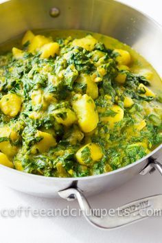 Spinach and Potato Curry | Palak Aloo