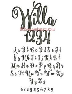 Willa Embroidery Font                                                                                                                                                      More