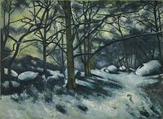""" Neve sciolta a Fontainebleau"", olio su tela, New York, The Museum of Modern Art, 1879-1880."