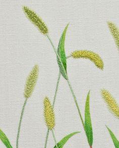 #야생화자수 #강아지풀 #꿈소 #꿈을짓는바느질공작소 #embroidery #foxtail #greenbristlegrass