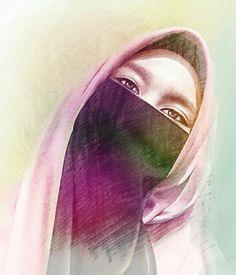 54 Best Beautiful Hijabi Art Images Muslim Women Drawings Hijab