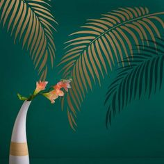 The Banana Leaf allover stencil will help you achieve a trendy tropical wall design in any room. This palm leaf stencil design will give any space a fresh new look and is so easy to use! Cutting Edge Stencils offers beautiful stencils at affordable prices Stencil Wall Art, Leaf Stencil, Wallpaper Stencil, Stencil Painting On Walls, Tile Stencils, Wall Stenciling, Large Wall Stencil, Stencil Diy, Stencil Designs