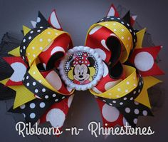 Hey, I found this really awesome Etsy listing at https://www.etsy.com/listing/252964875/classic-minnie-mouse-boutique-style-hair