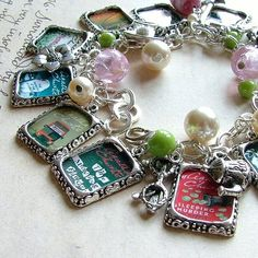 Agatha Christie Charm Bracelet. Jewelry in honor of my favorite author. My husband gave me this for Valentines Day in 2011.