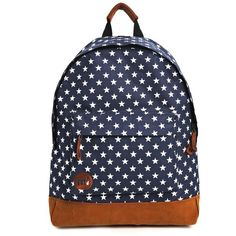 Mi-Pac All Stars Backpack in Navy (265 DKK) ❤ liked on Polyvore featuring bags, backpacks, mochilas, accessories, bolsas, navy, top handle bag, navy backpack, knapsack bags and star backpack