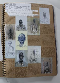 AL Fine Art A3 Brown Sketchbook Artist Research CSWK 2016 Thomas Rotherham College