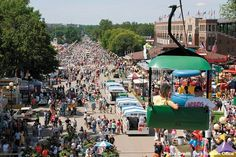 Make your way to the Iowa State Fair. Over 11 days in August, visitors can take selfies with a Butter Cow, compete in a hog calling contest, enjoy a 200+ float parade and try all kinds of fair foods, from a tater dog-on-a-stick to chicken fried bacon. Look for carnival rides, musical shows and a petting zoo, too.