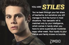 Which character are you? I got Styles! Basically I'm the female equivalent of him