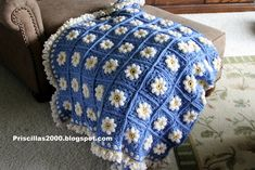 daisy granny square afghan - Google Search
