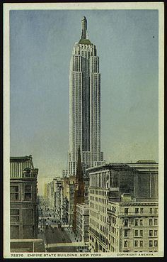 Detroit Publishing Company (American). The Empire State Building, New York City, 1931–32. The Metropolitan Museum of Art, New York. The Jefferson R. Burdick Collection, Gift of Jefferson R. Burdick (Burdick 417, p.12r(2)) #newyork #nyc