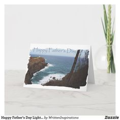 Shop Happy Father's Day Lighthouse from Daughter Thank You Card created by WrittenInspirations. Fathers Day Shirts, Fathers Day Cards, Happy Fathers Day, Mothers Day Gifts From Daughter, Custom Thank You Cards, Dog Bowtie, Craft Gifts, Your Cards, Lighthouse