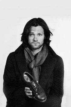 "Supernatural...""I lost my shoe"" (gosh, he's so cute. i'd like to suck the sad off his face)."