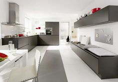 Two Tone Kitchen Cabinets Grey and White Image