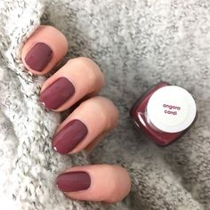 Essie - angora cardi (short nails)