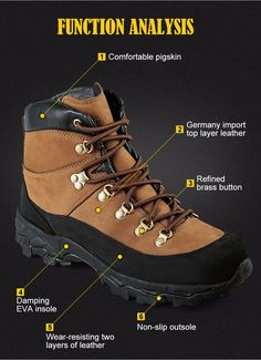 f8379a2166e Tactical Military Combat Boots Lightweight All Terrain Real Leather  Trekking Shoes for Hiking Cimbing Trekking - 2 Colors Brown Black
