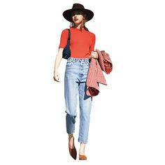 実証! デニムは「ヒップを包み込む形」で選べばうまくいく | GISELe(ジゼル) | 主婦の友社「GISELe」オフィシャルサイト Denim Fashion, Love Fashion, Spring Fashion, Autumn Fashion, Fashion Outfits, Womens Fashion, Style Me, Cool Style, White T