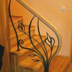 Beautiful rail forged from wrought iron Wrought Iron Staircase, Iron Stair Railing, Wrought Iron Decor, Railings, Iron Gates, Iron Doors, Beautiful Stairs, Iron Furniture, Railing Design