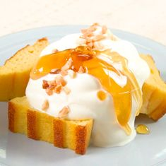 Good Food, Yummy Food, Tasty, Sweets Recipes, Cake Recipes, Low Carb Recipes, Cooking Recipes, Making Sweets, Mango Cheesecake