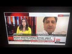 Hacim küçültücü KOAH Tedavilerine dair 10 Ekim 2017 Ulusal TV kanalı CNN...