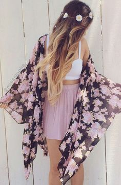 Daily New Fashion : Gorgeous Summer Outfits from WhereToGetIT, Brought to you by., Spring Outfits, Daily New Fashion : Gorgeous Summer Outfits from WhereToGetIT, Brought to you by Skoother - for beautiful DIY soft smooth feet. Found on Kickstarter: . Kimono Cardigan, Boho Kimono, Floral Kimono, Chiffon Kimono, Print Chiffon, Kimono Jacket, Kimono Outfit, Floral Cardigan, Floral Jacket