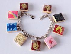 Gravity Falls Inspired Scrabble Tile Charm by HoneysuckleRoseC
