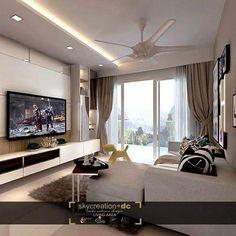 Our online home renovation video media specializes in helping homeowners to find interior design firm and renovation inspiration, tips, ideas and solutions! Free Interior Design, Ceiling Design, Home Renovation, Living Room Decor, Modern Design, Bed Rooms, House Styles, Sofa, Organization