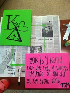 "Kappa Delta small canvas crafts ""Your big is both the best and worst influence on you at the same time"" Very cute sorority quote! Kappa Delta Sorority, Phi Sigma Sigma, Delta Phi Epsilon, Pi Beta Phi, Alpha Sigma Alpha, Sorority Life, Phi Mu, Delta Zeta Crafts, Sorority Crafts"