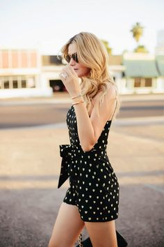 Caitlin Lindquist Is Wearing Heart Romper From TopShop Designed By Kate Moss And Heart Shaped Sunglasses By Wildfox