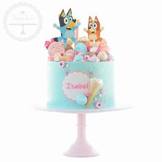 ABC Bluey themed birthday cake with a lolly overload - Top Trends 2nd Birthday Party Themes, Themed Birthday Cakes, Birthday Cake Girls, Themed Cakes, 4th Birthday, Birthday Ideas, Party Cakes, Party Desserts, Cookie Desserts