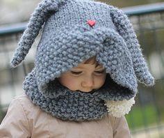 Patron de tricot capuche ZAÏKA (tailles: Tout Petit, Enfant, )