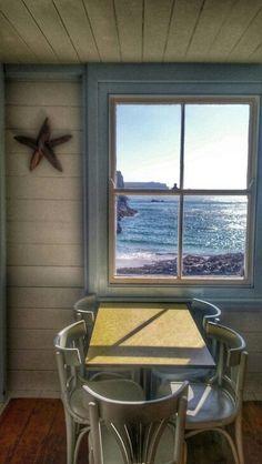 Beach cafe at Kynance Cove by MM Seaside Cafe, Beach Cafe, Seaside Resort, Cornwall Breaks, Devon And Cornwall, British Beaches, British Seaside, Restaurant Themes, Restaurant Design