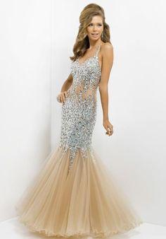 Blush Mermaid Prom Dress 9702