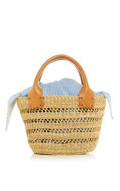 Latticework Straw Bag with Leather Handles by Muun   Moda Operandi