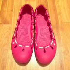 3a68f342c5300 Crocs Pink and white crocs. Very comfy