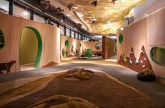 Abasto Children's Museum in Buenos Aires, Argentina / Gruba Kids Play Spaces, Learning Spaces, Neri And Hu, Kindergarten Design, Museum Exhibition, Children's Museum, Kids Museum, Wooden Architecture, Architecture Design