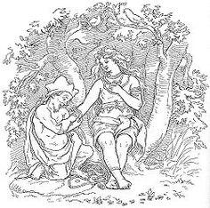 Trud (Þrúðr) er i nordisk mytologi Thor og Sifs datter og søster til Modi. Hun er halvsøster til Thors søn Magni, som han har med Jernsaxa og Sifs søn Ull.  Trud skulle have ægtet en dværg ved navn Alviss.  Men da han kom til Asgård ville Thor have at han skulle bevise sit værd (sin visdom).  Da dette stod på til efter solopgang, og da solens stråler ramte ham, blev han forvandlet til sten, og Trud forblev ugift.  Allvis är i Sången om Allvis i den poetiska Eddan en dvärg som medan Tor är…