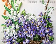 Silk Ribbon Embroidery Kit Spring Flowers