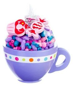 Purple Passion Sweet Treats Bead Kit by Bead Bazaar. $12.99. This is the perfect addition to any girls tea party!. Includes: beads, charms, and cotton string.. Tea time is bead time with Pink Sugar Sweet Treats!. A generous serving of beads come packed in a decorative wooden cup.. Create 2 accessories.. Tea time is bead time with Pink Sugar Sweet Treats! A generous serving of beads come packed in a decorative wooden cup. Includes: beads, charms, and cotton string. Create 2...