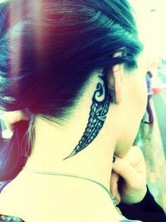 Maori Tattoo Behind Ear #Moko ~ Best Placement