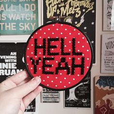 #crossstitch #xstitch #embroidery #embroideryhoop #craft #polkadot #etsy #hellyeah