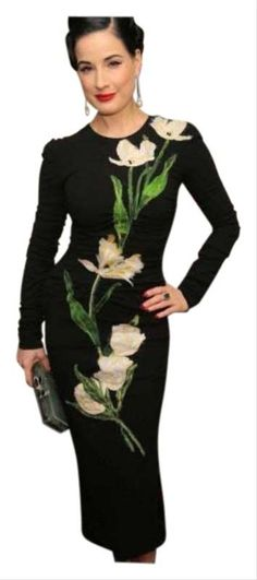 EU SIZE New unworn. Wool crepe like fabric. As seen on DITA VON TEASE video recorded packaging , shipping and device tracker added for fraudulent buyers so beaware Dita Von Teese Style, Dita Von Tease, Lbd, Dress Black, My Girl, Luxury Fashion, Style Inspiration, Money, Black And White