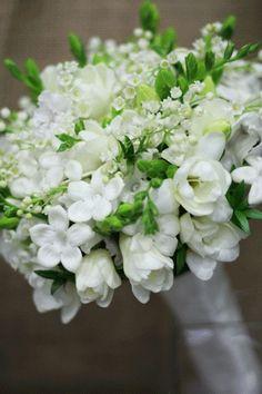 gardenia, freesia, stephanotis, lily-of-the-valley