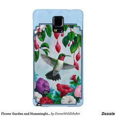 Flower Garden and Hummingbirds Blue Galaxy Note 4 Case