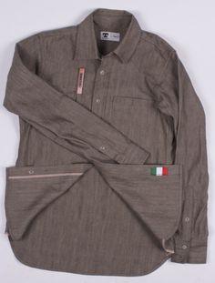 Tellason Topper Brown Selvage Denim Shirt. #rawdenim #workwear #menswear