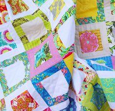 Scrap Quilt -Red Pepper Quilts: Sweet Daisy Quilt II - A Custom Quilt