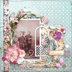 Scrapbooking with Sillicreations mold. Scrapbooking Layouts Vintage, Heritage Scrapbooking, Vintage Scrapbook, Scrapbook Sketches, Scrapbook Page Layouts, Vintage Postcards, Scrapbook Cover, Scrapbook Albums, Scrapbook Cards