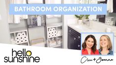 How To Organize Your Bathroom with The Home Edit The Home Edit, Hello Sunshine, House Goals, Three Kids, Bathroom Organization, Getting Organized, Youtube, Feng Shui, Advice