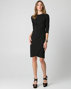 Ponte Crew Neck Dress - A figure-hugging ponte knit shapes a minimalist crew neck dress, perfect for weekend dressing. Office Wear, Office Chic, Weekend Dresses, Minimalist Fashion, Clothes For Women, Women's Clothes, Crew Neck, Dressing, Dresses For Work