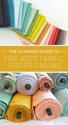 """"""""""" The Ultimate Guide to the Best Fabric Shops Online – Suzy Quilts """""""" No more scouring the internet for the perfect print. Here is the Ultimate Guide to the BEST fabric shops online! Sewing Basics, Sewing Hacks, Sewing Tutorials, Sewing Crafts, Sewing Tips, Dress Tutorials, Craft Tutorials, Sewing Ideas, Diy Crafts"""