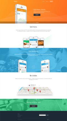 Landing page for businesses by Mariusz Ciesla, via Behance